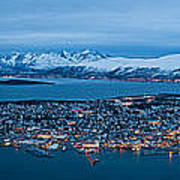 Panoramic View Of Tromso In Norway  Poster