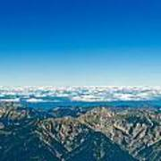 Panoramic View Zugspitze German Austrian Boarder Poster