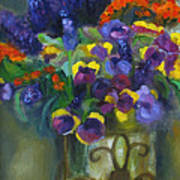 Pansies Poster by Susan Hanlon