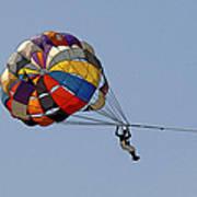 Paraglider Blue Poster by Kantilal Patel