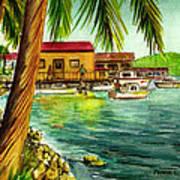 Parguera Fishing Village Puerto Rico Poster