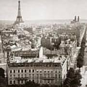 Paris: Aerial View, 1900 Poster