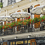 Paris Cafe Poster by Elena Elisseeva