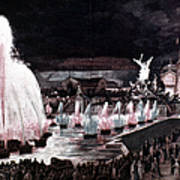 Paris: Fountains, 1889 Poster