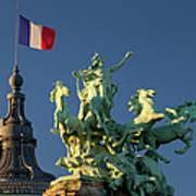 Paris Horse Statue Poster