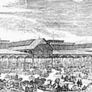 Paris: Les Halles, 1858 Poster