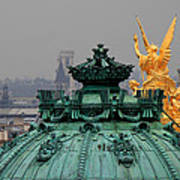 Paris Rooftops 1 Poster