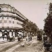 Paris: Street Scene, 1890 Poster