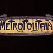 Parisienne Metro Sign Poster