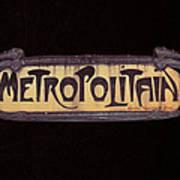 Parisienne Metro Sign Poster by Rod Jones