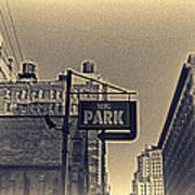 Parking In Sepia Poster