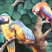 Parrot Painting Poster