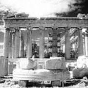 Parthenon Infrared Poster