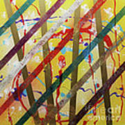 Party - Stripes 2 Poster by Mordecai Colodner