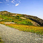 Path To Cabot Tower On Signal Hill Poster by Elena Elisseeva