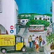 Patmos Fish Monger Poster