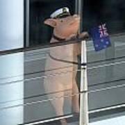 Patriotic Pig Poster