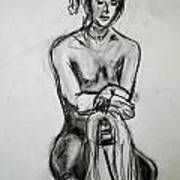 Paula - Charcoal Life Drawing Poster