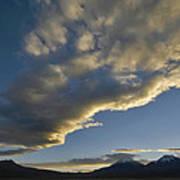 Payachatas Mountains. Republic Of Bolivia.  Poster