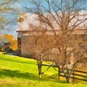 Peaceful Farm In Autumn Poster