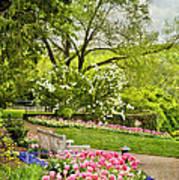Peaceful Spring Park Poster by Cheryl Davis