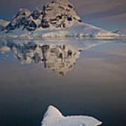 Peak On Wiencke Island Antarctic Poster by Colin Monteath