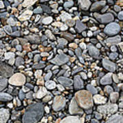 Pebble Beach Rocks, Maine Poster