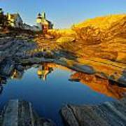 Pemaquid Point Reflection 2 Poster