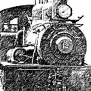 Pencil Sketch Locomotive Poster