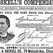 Penmanship Ad, 1887 Poster