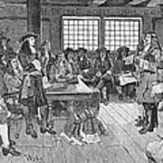Penn And Colonists, 1682 Poster