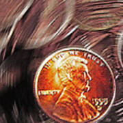 Pennies Abstract 2 Poster