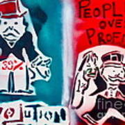 People Over Profits Poster by Tony B Conscious