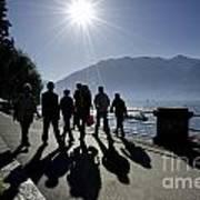 People Walking Poster