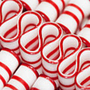 Peppermint Ribbon Candy Poster
