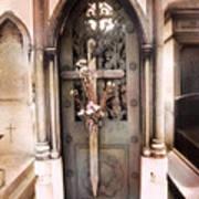 Pere La Chaise Cemetery Ornate Mausoleum Poster