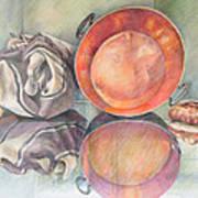 Perol Con Bulto Y Pan Poster