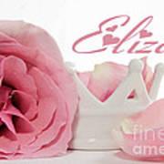 Personalized Princess Petals Poster