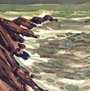 Pescadero Rocks Poster