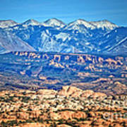 Petrified Dunes And La Sal Mountains Poster