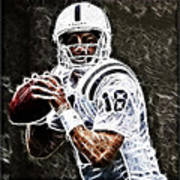 Peyton Manning 18 Poster by Paul Ward