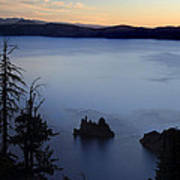 Phantom Ship Sunrise At Crater Lake Poster
