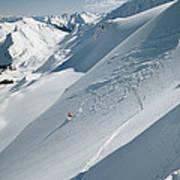 Phil Atkinson Skiing The Dogtooth Range Poster