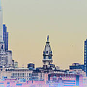 Philadelphia From South Camden Poster by Bill Cannon