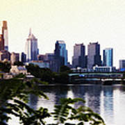 Philadelphia From The Banks Of The Schuylkill River Poster
