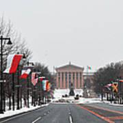 Philadelphia Parkway In The Snow Poster