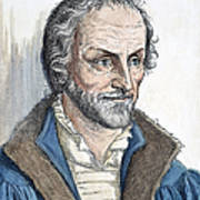 Philipp Melanchthon (1497-1560). German Scholar And Religious Reformer: Line Engraving, German, 19th Century Poster