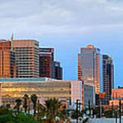 Phoenix Skyline At Dusk Poster