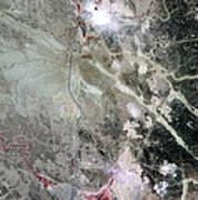 Phosphate Mines, Jordan Poster by Nasa