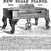 Piano Advertisement, 1874 Poster